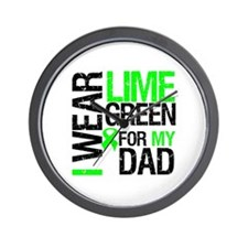 I Wear Lime Green For Dad Wall Clock