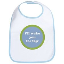 Fajr Infant Bib (light blue + green)