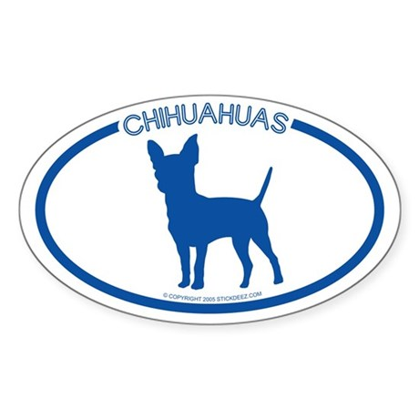 """Chihuahuas"" - Oval Sticker"