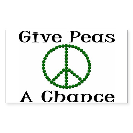 Give Peas... Rectangle Sticker