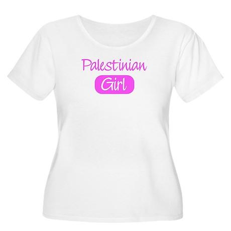 Palestinian girl Women's Plus Size Scoop Neck T-Sh