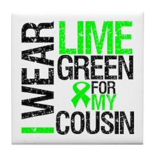 I Wear Lime Green Cousin Tile Coaster