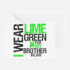 I Wear Lime Green BIL Greeting Card