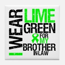 I Wear Lime Green BIL Tile Coaster