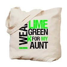 I Wear Lime Green For My Aunt Tote Bag