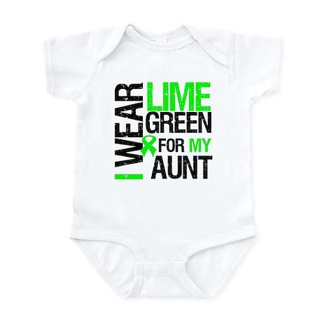I Wear Lime Green For My Aunt Infant Bodysuit