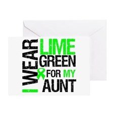 I Wear Lime Green For My Aunt Greeting Card