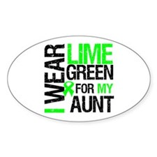 I Wear Lime Green For My Aunt Oval Sticker (10 pk)