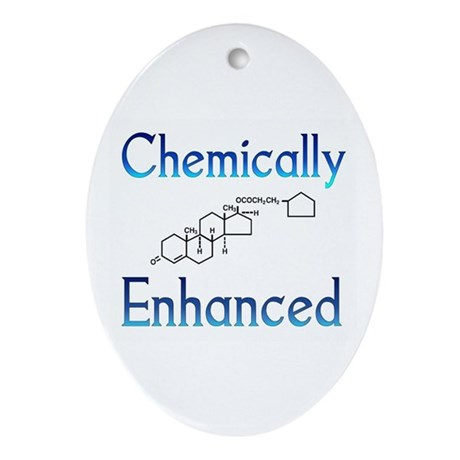 Chemically Ehanced Oval Ornament
