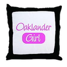 Oaklander girl Throw Pillow