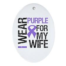 IWearPurple Wife Oval Ornament