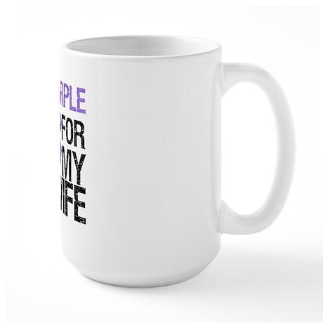 IWearPurple Wife Large Mug