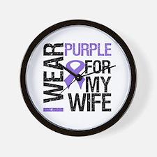 IWearPurple Wife Wall Clock
