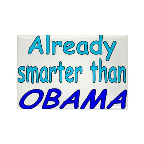 Smarter- Obama Rectangle Magnet (10 pack)