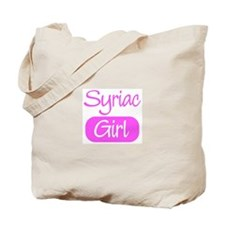 Syriac girl Tote Bag