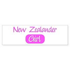 New Zealander girl Bumper Bumper Sticker