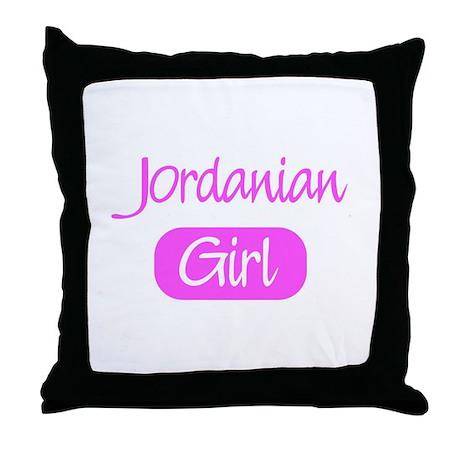 Jordanian girl Throw Pillow