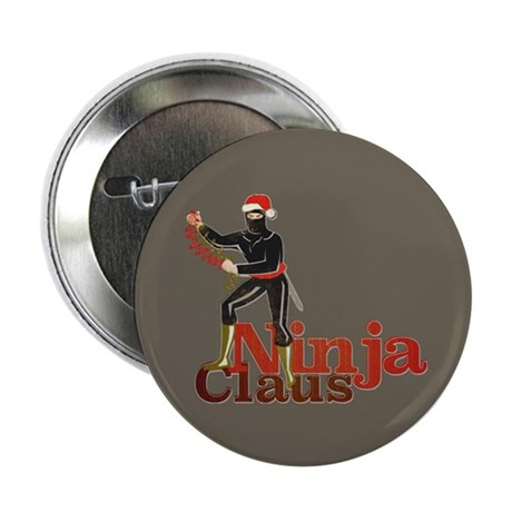 "Ninja Claus 2.25"" Button (100 pack)"
