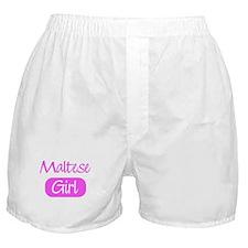 Maltese girl Boxer Shorts