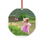 Little Pink Butterfly Fairy Keepsake (Round)