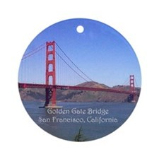 San Francisco Souvenir Ornament (Round)