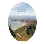San Francisco Souvenir Oval Ornament