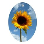 Sunflower Oval Ornament