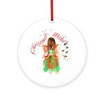 Christmas Fairy Ornament (Round)