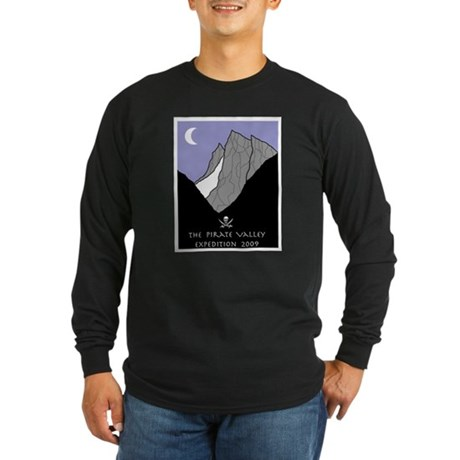 Pirate Valley Expedition Long Sleeve Dark T-Shirt