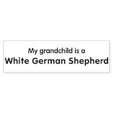 White German Shepherd grandch Bumper Bumper Sticker
