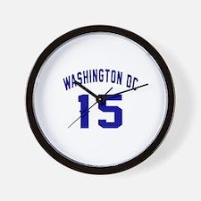 Washington Dc 15 Wall Clock