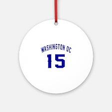 Washington Dc 15 Round Ornament