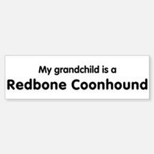 Redbone Coonhound grandchild Bumper Car Car Sticker