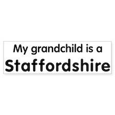 Staffordshire grandchild Bumper Bumper Sticker
