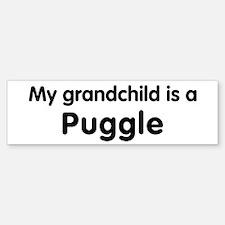 Puggle grandchild Bumper Bumper Bumper Sticker
