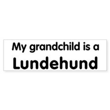 Lundehund grandchild Bumper Bumper Sticker