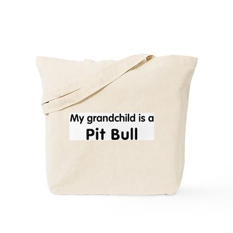 Pit Bull grandchild Tote Bag