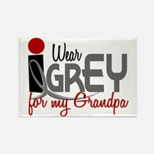 I Wear Grey For My Grandpa 32 Rectangle Magnet
