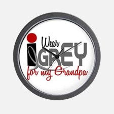 I Wear Grey For My Grandpa 32 Wall Clock
