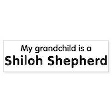 Shiloh Shepherd grandchild Bumper Bumper Sticker