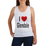 I Love Glendale (Front) Women's Tank Top