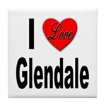 I Love Glendale Tile Coaster