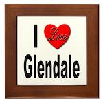 I Love Glendale Framed Tile
