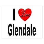 I Love Glendale Small Poster