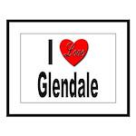I Love Glendale Large Framed Print