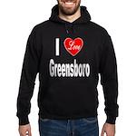 I Love Greensboro (Front) Hoodie (dark)