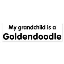 Goldendoodle grandchild Bumper Bumper Sticker