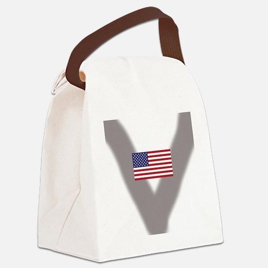 Cute Stickman Canvas Lunch Bag