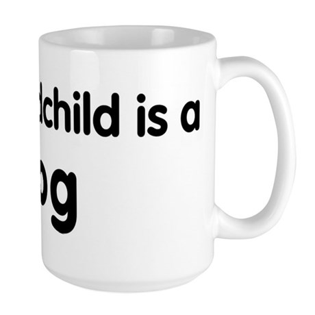 Dog grandchild Large Mug