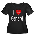 I Love Garland (Front) Women's Plus Size Scoop Nec